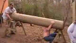 Extreme Heavy Weight Lifting Telephone Pole 2nd Try Part 2