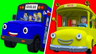 Wheels On the Bus Go Round and Round | Nursery Rhymes