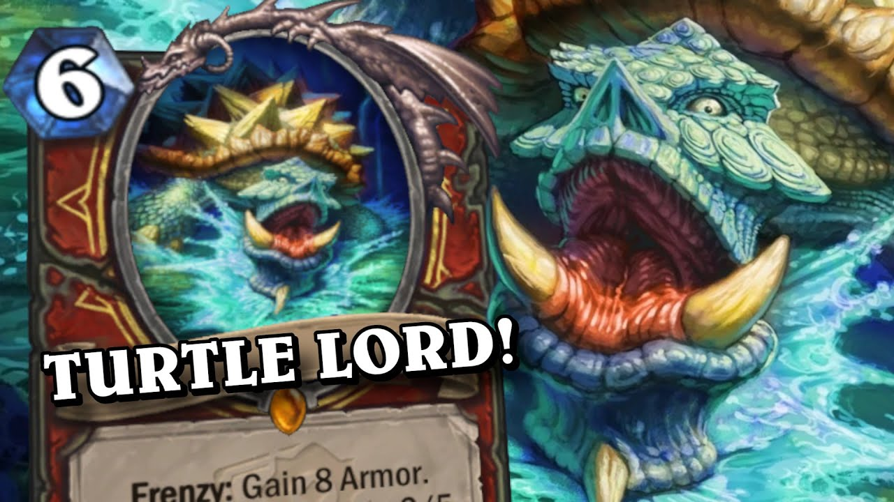 I AM THE TURTLE LORD! Control Warrior | Standard | Forged in the Barrens | Hearthstone