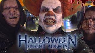 HALLOWEEN FRIGHT NIGHTS ACHTER DE SCHERMEN VLOG!