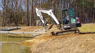 Kapper Outdoors Spring Vlog! Bobcat Excavator chores! 03-17-19