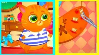 Игра Котик Бубу Котофей Мультики для детей Котенок Bubbu упал с дерева