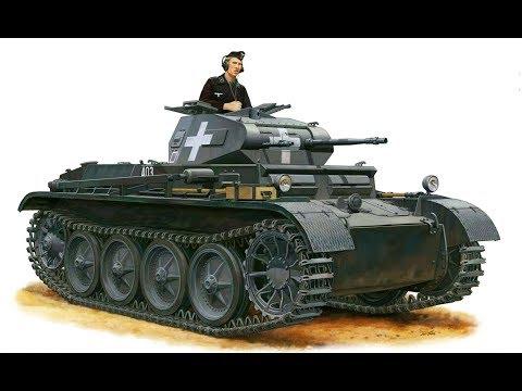 Германские танки 5 серия Легкие танки Pz. 1, Pz.2