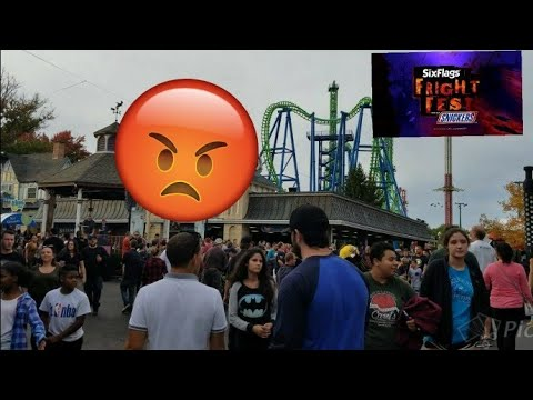 Six Flags New England Fright Fest 10/21/17 | Worst Visit of 2017!!