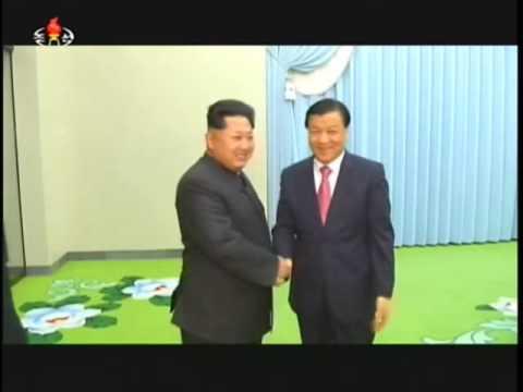 Kim Jong Un meet Chinese Delegation