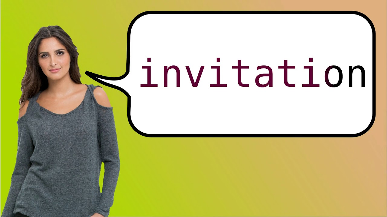 How to say invitation in french youtube how to say invitation in french stopboris Choice Image