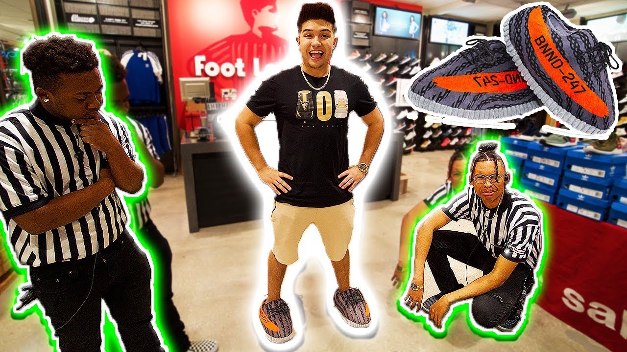 b68f99bcacc36 WEARING YEEZY SLIPPERS TO FOOTLOCKER!!   KICKED OUT   - YouTube