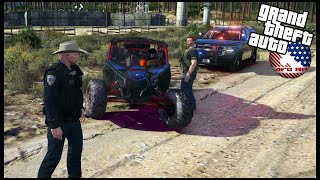 GTA 5 ROLEPLAY - HIGH SPEED CHASE WITH TRUCK AND DOZER! - EP. 969 - AFG -  LEO