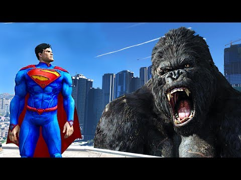 SUPERMAN VS KING KONG - KONG SKULL ISLAND !!!