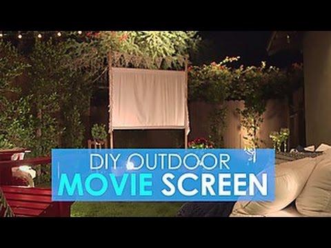 Easy diy outdoor movie screen hgtv youtube easy diy outdoor movie screen hgtv freerunsca Image collections