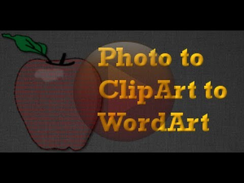 GIMP Project - Clip Art From a Photograph  How to Make Words into a