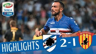 Sampdoria - Benevento - 2-1 - Highlights - Giornata 1 - Serie A TIM 2017/18
