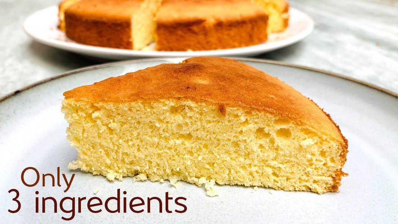 3 ingredient sponge cake