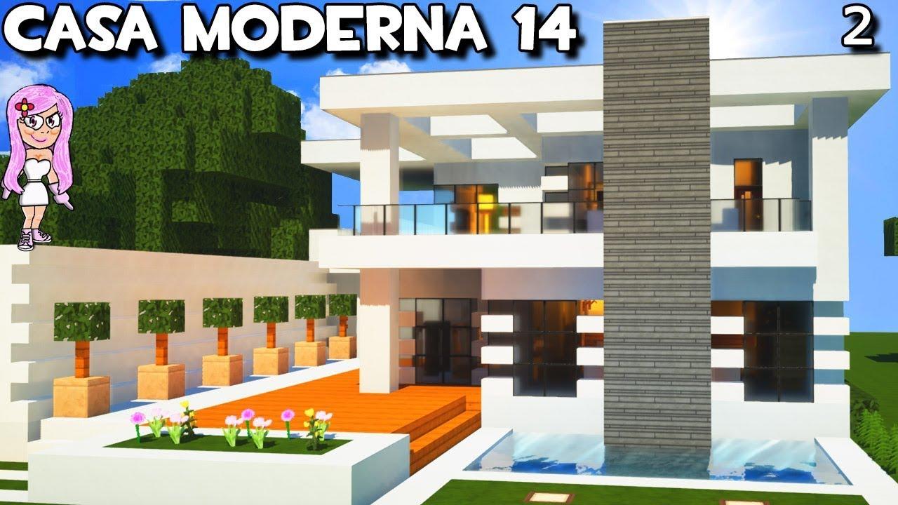 Casa moderna 14 con garaje y piscina en minecraft c mo for Como hacer una casa moderna y grande en minecraft 1 5 2