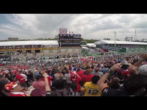 2017 Grand Prix du Canada National Anthem and Fly Over