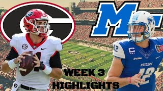 NCAA Football Week 3: Georgia vs Middle Tennessee State Highlights
