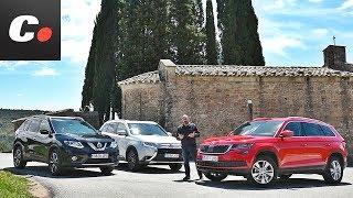Skoda Kodiaq, Mitsubishi Outlander, Nissan X-Trail | Comparativa SUV 7 plazas | Prueba | Coches.net