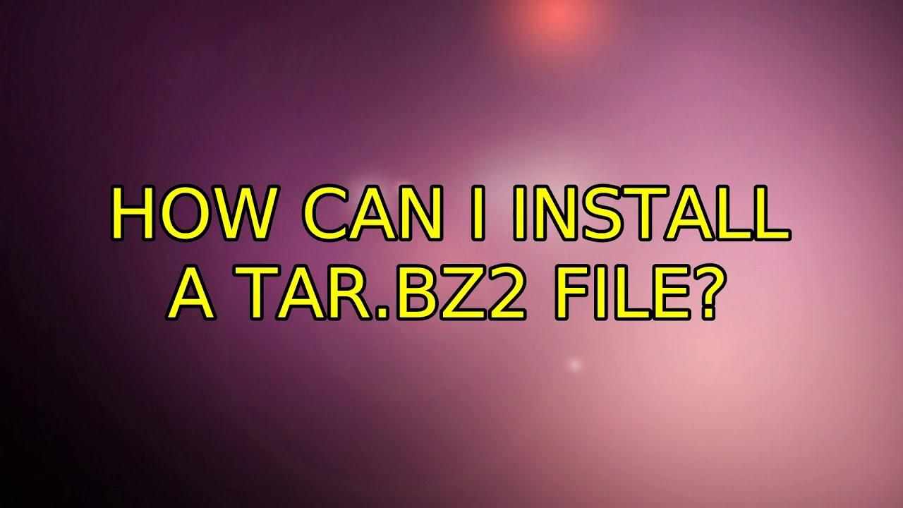 Install bzip2