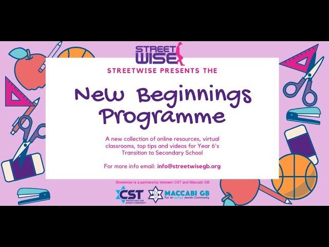 New Beginnings - Street Awareness part 1