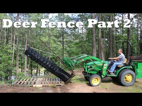 8ft Metal Deer Fence Install Part 2 - Fencing Attachment - Corrected length
