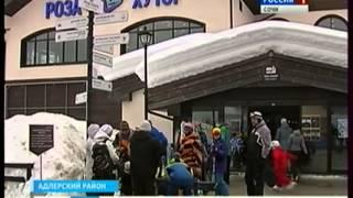 Горнолыжные курорты Сочи сегодня заполнены на две трети(http://vesti-sochi.tv., 2015-01-26T13:21:51.000Z)