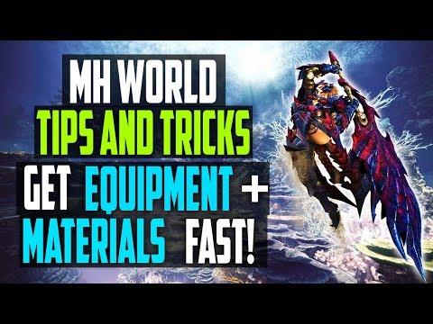 MH World Tips | GET EQUIPMENT, ZENNY + MATERIALS FAST | Monster Hunter World Gameplay thumbnail
