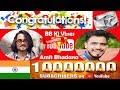 Winner of Amit Bhadana Vs BB Ki Vines 10 Million Race is ? Guess !! Congratulations