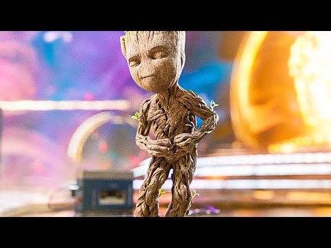 GUARDIANS OF THE GALAXY 2 'Baby Groot Dance' Opening Scene + Blu-Ray Trailer (2017)