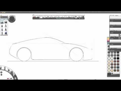 Tutorial de carro deportivo en Sketchbook Copic Edition - Parte 1 Videos De Viajes