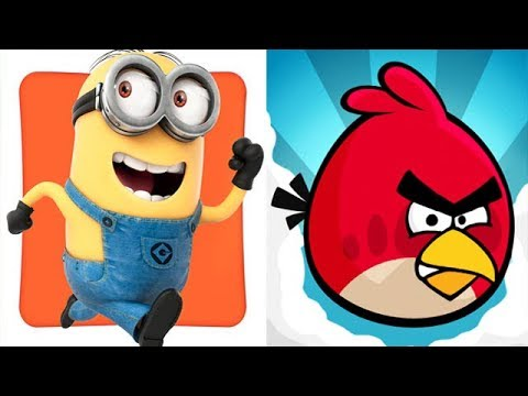 Despicable Me Minion Rush vs Angry Birds - YouTube