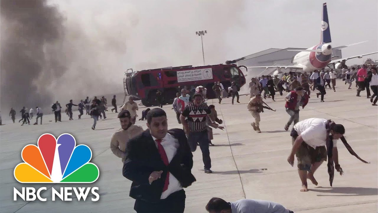 Explosions Hit Aden Airport As New Yemeni Government Arrives | NBC News NOW