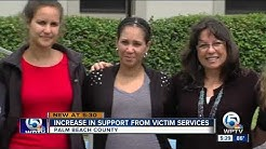 Increase in support from victim services
