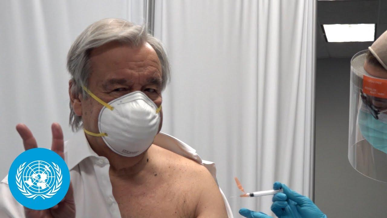 UN Chief receives COVID-19 vaccine