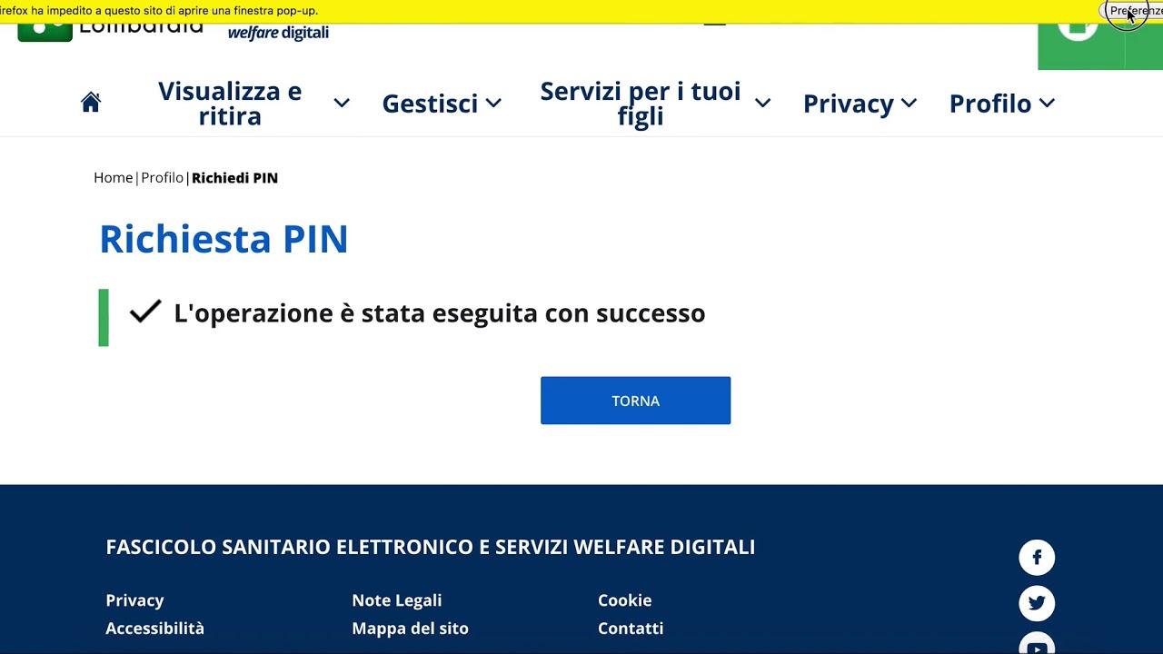 Carta Regionale Dei Servizi Come Richiedere E Ottenere Subito Il Pin Online