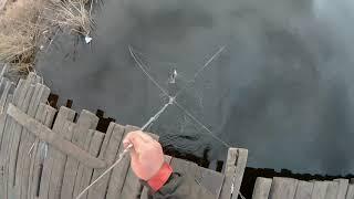 Весенняя рыбалка ПАУКОМ-ПОДЬЕМНИКОМ!!!