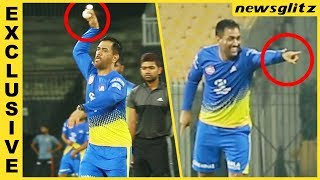 Dhoni Bowls And Trolls Bravo : CSK Practice In ...