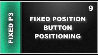 Web Design Tutorials for Xara Web Designer 9 Premium Lesson 124: Fixed Position Button part 3