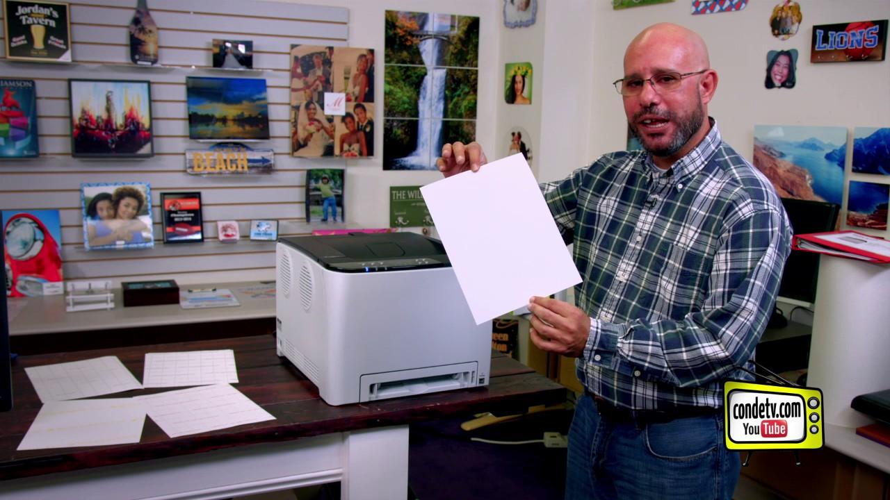 Conde's Ricoh SP C250DN Laser Printer for Transfer Paper ...