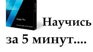 Sony Vegas pro 13. Обучение основам программы за 5 минут.
