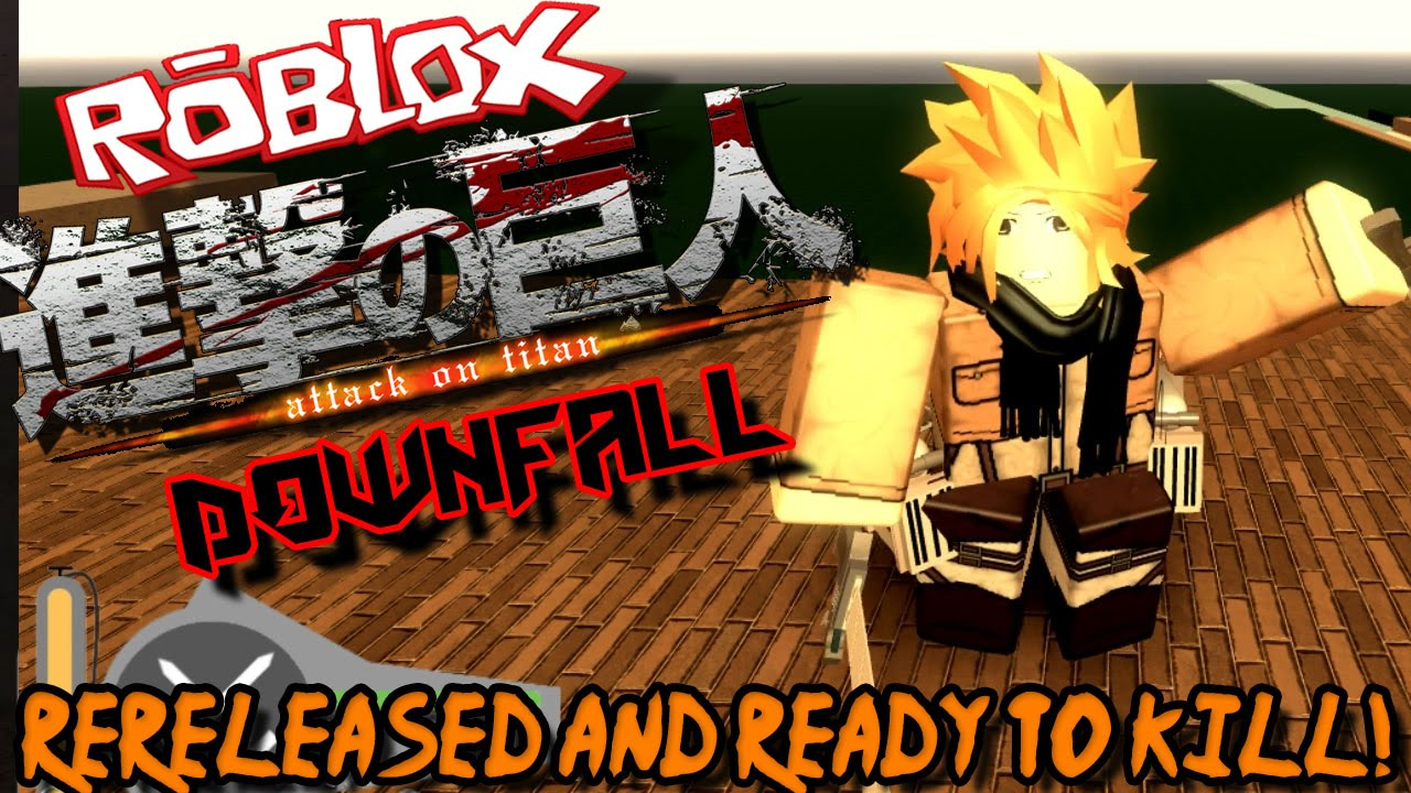 erza fanart cg roblox Re Released And Ready To Kill Roblox Attack On Titan Downfall Youtube