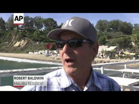 Boats Bring Supplies To Beach In Malibu
