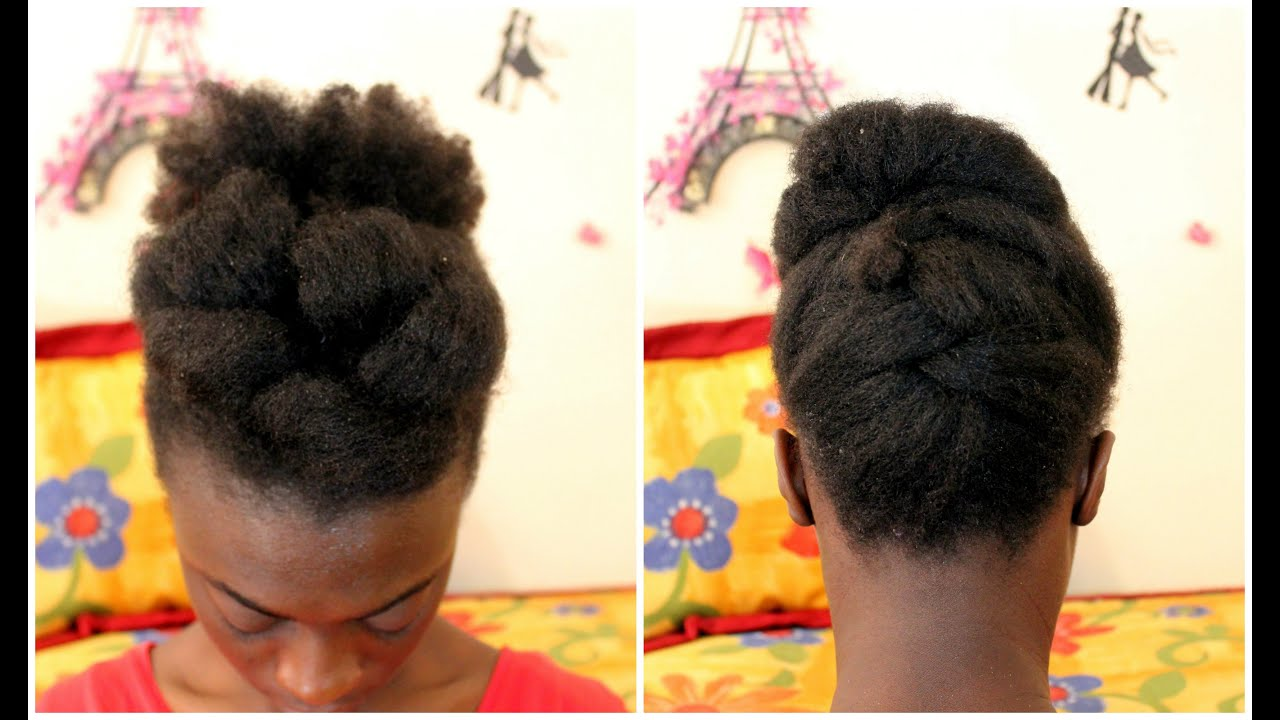 tutoriel coiffure facile sur cheveux cr pus 4c fin l le. Black Bedroom Furniture Sets. Home Design Ideas
