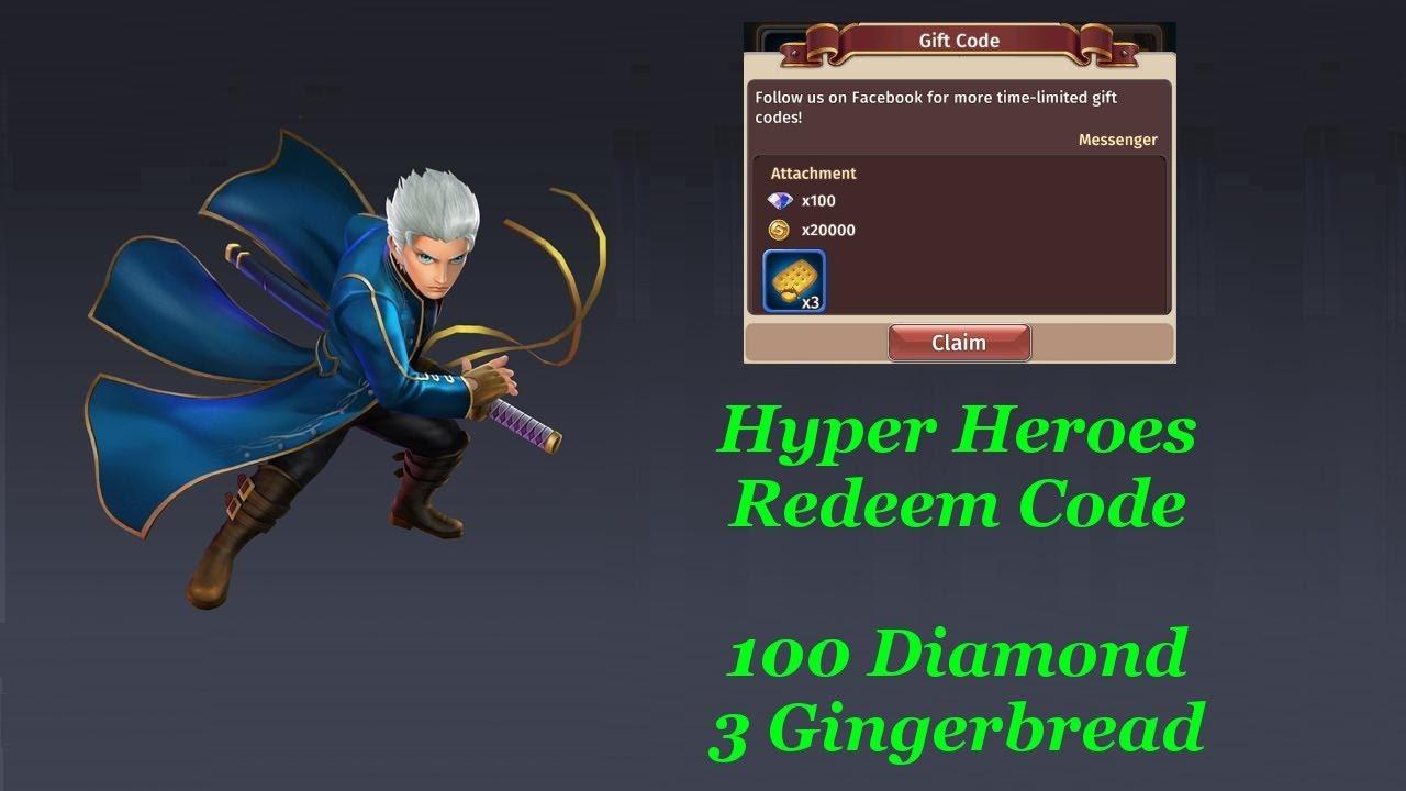 Hyper Heroes Redeem code video (6-7-2018)