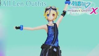 "Hatsune Miku: Project Diva X - All ""Kagamine Len"" Outfit Modules [English, Full 1080p HD]"