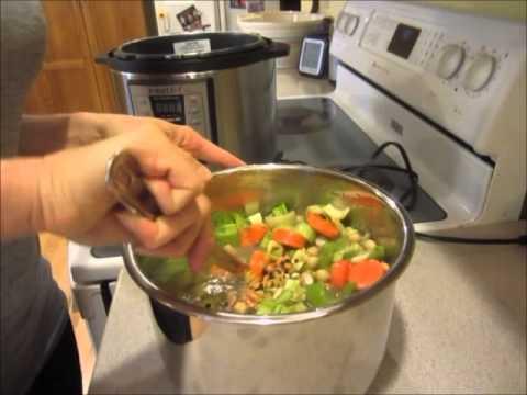 Instant Pot Lentil Vegetable Plant Based Soup Demo Youtube