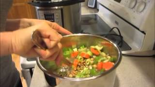 Instant Pot Lentil Vegetable Plant Based Soup Demo