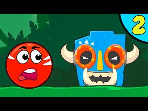 Несносный КРАСНЫЙ ШАР против злодеев в масках #2. Зеленые холмы 2. Мультик Red Ball на Игрули TV