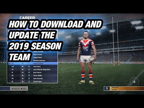 Rugby League Live 4 - How To Download And Update 2019 Season Teams