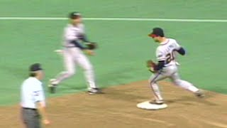 Stanton induces double play in Game 7 of '91 World Series