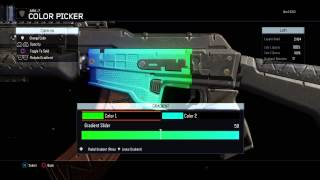 How To Fade Colors in BO3 Paintshop (Tutorial) Rainbow Camo